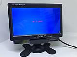 Цветной автомобильный монитор 7'' с 2-мя видеовыходами для камеры заднего вида + рамка, фото 2