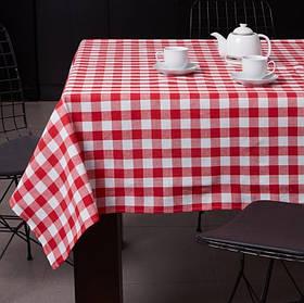 Скатертина Eponj Home - Kareli kirmizi червоний 160*160