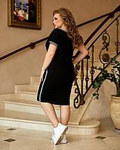 Плаття приталеного крою з кишенями і коротким рукавом з двухнити, фото 3