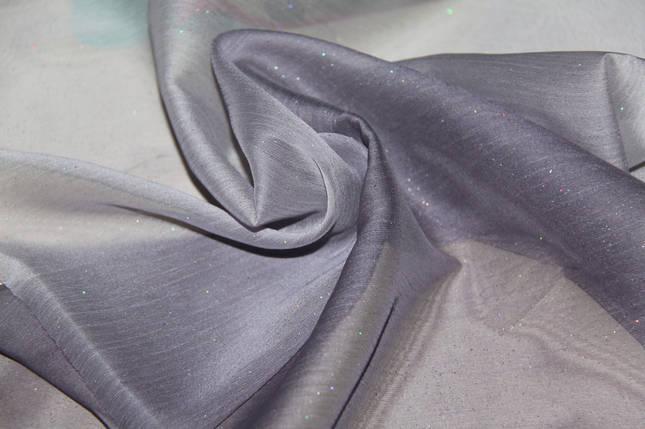 Шифон с блестками темный фиолет, фото 2