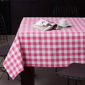 Скатерть Eponj Home - Kareli pembe розовый 160*160