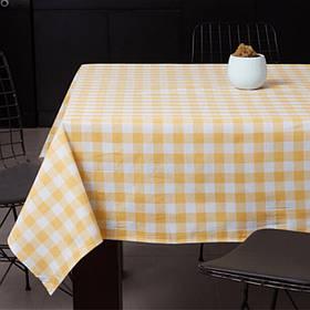 Скатертина Eponj Home - Kareli sari жовтий 160*160