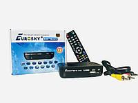 Т2 Тюнер цифровой эфирный DVB-T2 ресивер Eurosky ES-16 mini (DVB-C/T2, АС3, Youtube, IPTV player, Megogo)