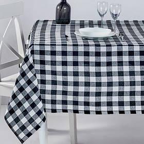 Скатертина Eponj Home - Kareli siyah чорний 160*160