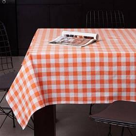 Скатерть Eponj Home - Kareli turuncu оранжевый 160*160