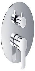Трехпозиционный скрытый смеситель для ванны/душа (круглый)  CM-11.R-300-01