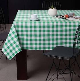 Скатертина Eponj Home - Kareli yesil зелений 160*160