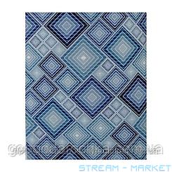 Коврик для ванной и туалета Аквамат Dekomarin Турция 80см Ромбы синие