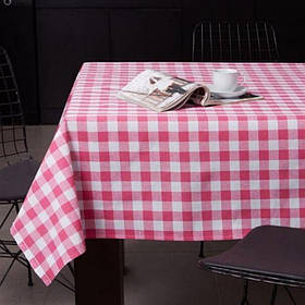 Скатертина Eponj Home - Kareli pembe рожевий 160*220