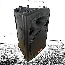 Портативная акустическая система 1500 Ватт Bluetooth, аккумулятор 2 беспроводных микрофона Su-Kam BT 150D