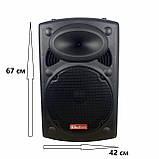 Портативная акустическая система 1500 Ватт Bluetooth, аккумулятор 2 беспроводных микрофона Su-Kam BT 150D, фото 2
