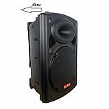 Портативная акустическая система 1500 Ватт Bluetooth, аккумулятор 2 беспроводных микрофона Su-Kam BT 150D, фото 3