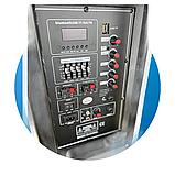 Портативная акустическая система 1500 Ватт Bluetooth, аккумулятор 2 беспроводных микрофона Su-Kam BT 150D, фото 4