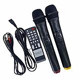 Портативная акустическая система 1500 Ватт Bluetooth, аккумулятор 2 беспроводных микрофона Su-Kam BT 150D, фото 7