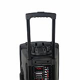 Портативная акустическая система 1500 Ватт Bluetooth, аккумулятор 2 беспроводных микрофона Su-Kam BT 150D, фото 8