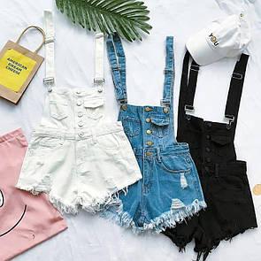 Жіночий джинсовий комбінезон Білий