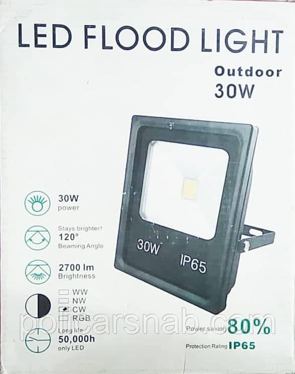 Прожектор світлодіодний 30W з LED-модулем