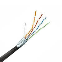 Кабель FTP Сat.5Е 4PR CU (100МГц) PE Outdoor, 0.45мм, 305м наружный, чёрный, 305м