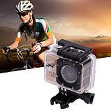Видеокамера, экшн-камера водонепроницаемая 1080p, A7 + комплект креплений, фото 2