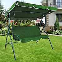 Качели садовые для дачи во двор зеленые 200 кг Bonro