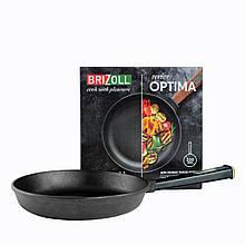 Сковорода чугунная тм brizoll 220х42,5 мм с ручкой optima-black