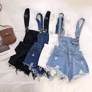 Жіночий джинсовий комбінезон Блакитний