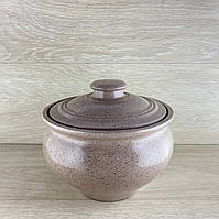 Супник з червоної глини 2.5 л декор різання, фото 1
