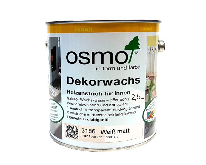 Масло защитное OSMO DEKORWACHS INTENSIVE FARBTONE для древесины 3186 - Белое Матовое 2,5л