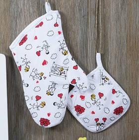 Кухонный набор Lotus Daily - Love is рукавица+прихватка