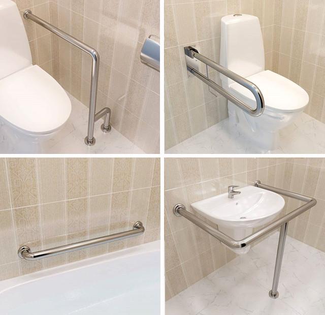 Поручень для инвалидов в санузел или душ