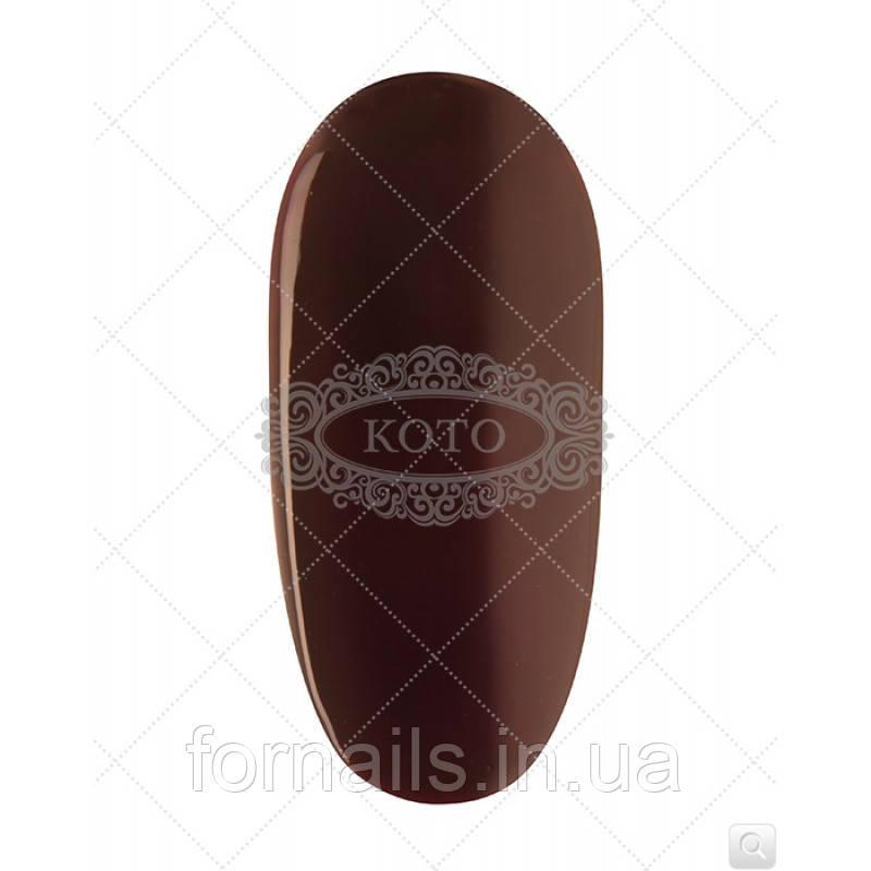 Гель-лак Koto №355 (5 мл,темний фіолетово-сливовий, емаль)