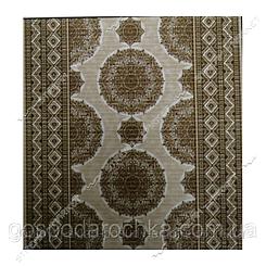 Коврик для ванной и туалета Аквамат Dekomarin Турция 65см Орнамент коричневый