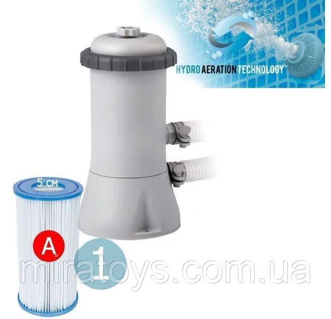 Насос-фильтр картриджный Intex 28638, картридж А, 3785 л/ч, шланг 32 мм