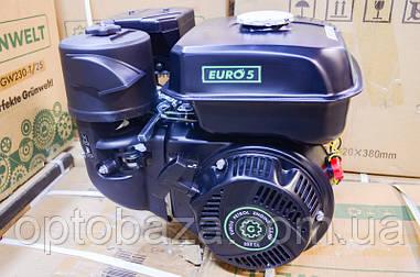 Двигатель Grunwelt GE 230 F-T (вал 25 мм, шлицы) 7,5 л.с. EURO 5