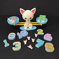 Математические весы Собачка мини с цифрами и фигурами BY-6005, фото 1