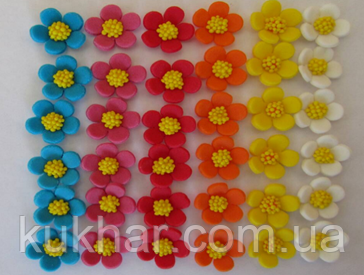 "Прикраси на торт ""Весняна квіточка мікс"" (уп.36шт)"