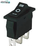 Кнопка-вимикач фена клавішний ON-OFF-ON 15A/20A 250/125 на три положення