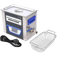 TUC-65 ультразвукова ванна 6.5 л, 120Вт, LCD дисплей, металевий, функиция дегазації, Jeken