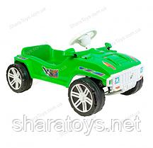 Педальная машинка для катания зеленая