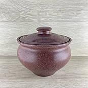Супник з червоної глини 2.5 л декор різання