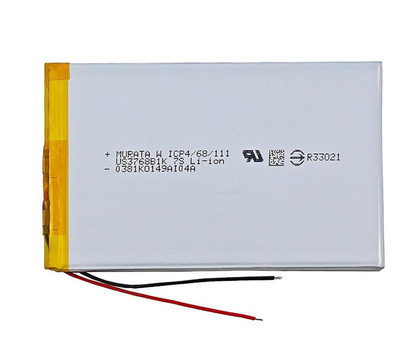 Тонкий Акумулятор для Планшета 3800 мАч (3,7 в) Універсальний 13.87 Wh 3800mAh 3.7v розмірами 3.3*67*111 мм