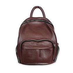 Рюкзак жіночий міський Betty Pretty з натуральної шкіри 973BORDO