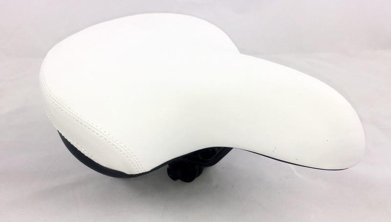 Сиденье белое для велосипеда Jet на пружинах