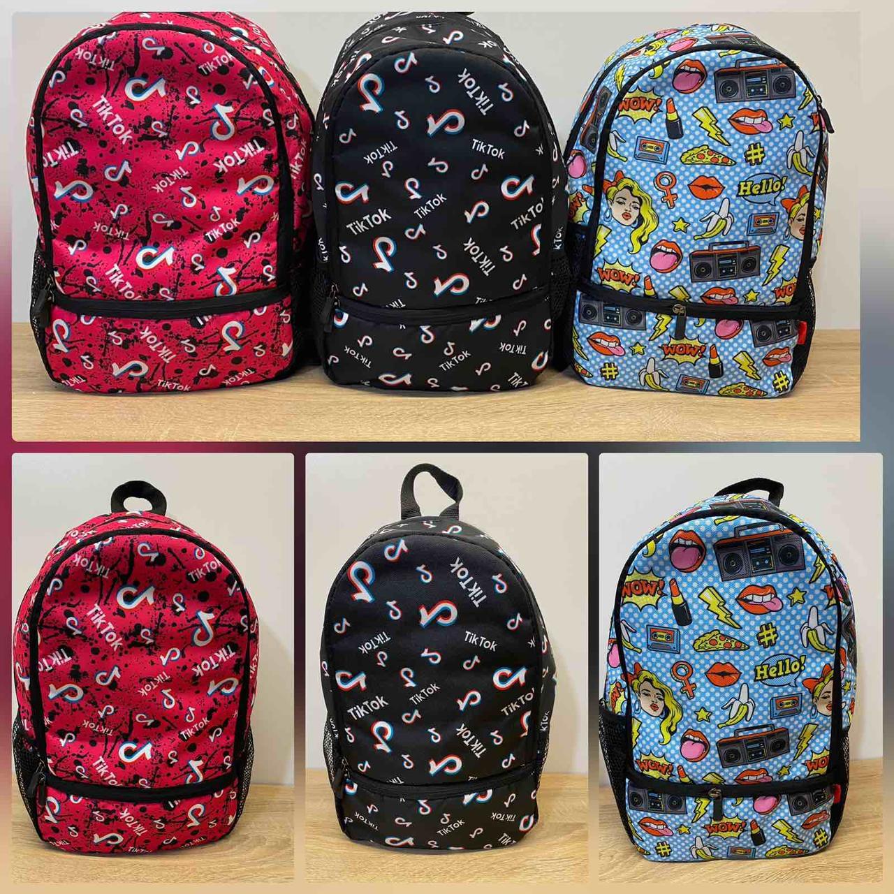 Рюкзак молодежный принт 39*28 см Panda