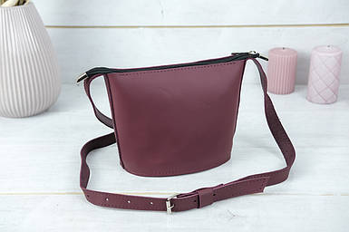 """Сумка женская. Кожаная сумочка """"Эллис"""", кожа Grand, цвет Бордо"""