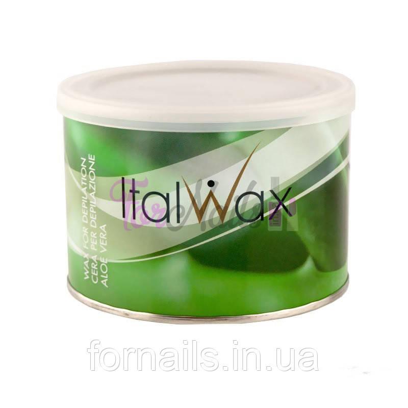ItalWax Віск для депіляції в банку, алое, 400 мл