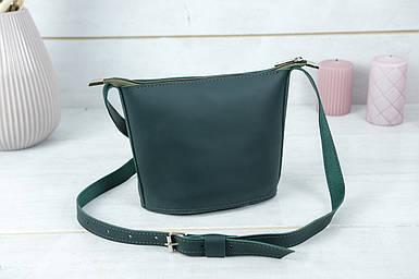 """Сумка женская. Кожаная сумочка """"Эллис"""", кожа Grand, цвет Зеленый"""