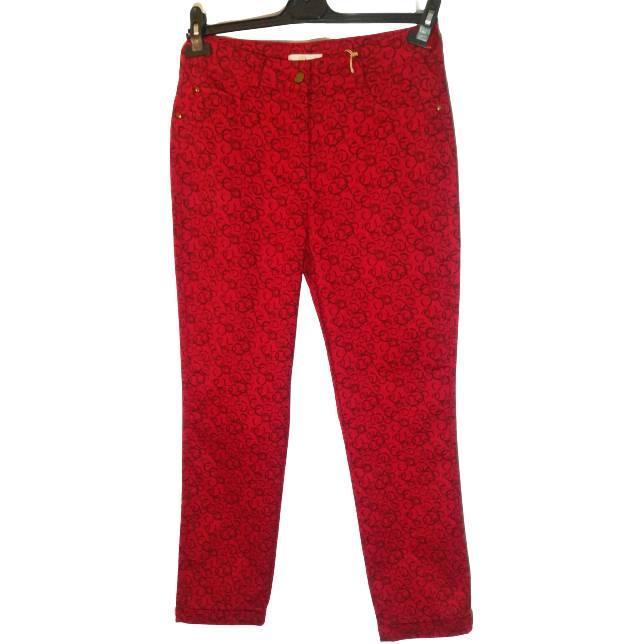 Женские красные брюки больших размеров 52-54, хлопок ТМ BI&KA, Турция