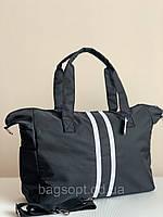 Сумка женская шоппер черная тканевая, фото 1