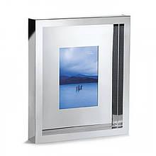 """Рамка для фотографій із сталі з дзеркальною поліровкою """"Lonely Planet"""" розмір фотграфії 13*18"""